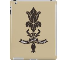 Baker Street flower iPad Case/Skin
