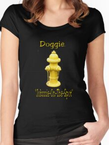 """Doggie """"Johnny-On-The-Spot""""! Women's Fitted Scoop T-Shirt"""