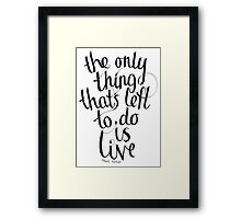 Frank Turner - I Knew Prufrock Before He Got Famous Framed Print