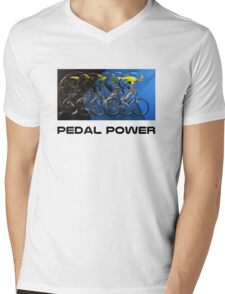 Pedal Power Mens V-Neck T-Shirt