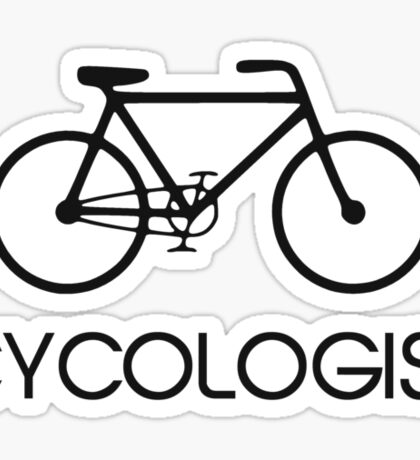 Cycologist Cycling Cycle Sticker
