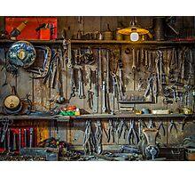 Vintage Tools Workshop Photographic Print