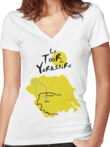 Tour de Yorkshire Women's Fitted V-Neck T-Shirt