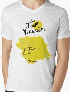 Tour de Yorkshire Mens V-Neck T-Shirt