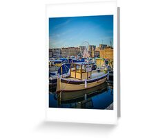 Marseille Harbor Greeting Card