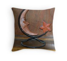 Moon Candle Holder Throw Pillow