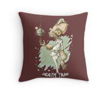 Death Trap Throw Pillow