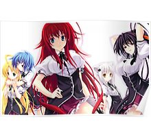 Anime Highschool DxD - Rias Gremory, Harem Poster