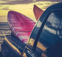 Retro Surf Boards In Truck by mrdoomits