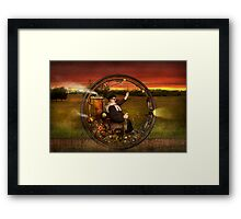 Steampunk - The gentleman's monowheel Framed Print