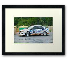 wet racing... Framed Print
