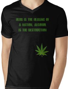 Herb is the Healing of a Nation Mens V-Neck T-Shirt