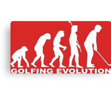 Golfing Evolution Canvas Print