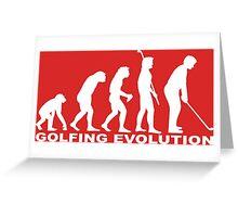 Golfing Evolution Greeting Card