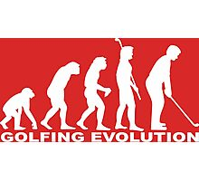 Golfing Evolution Photographic Print