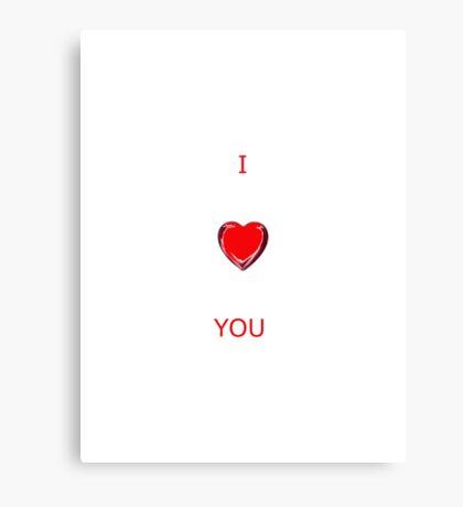 I LOVE YOU - CARD Canvas Print