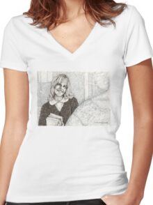 Angel - Darla III - BtVS Women's Fitted V-Neck T-Shirt