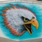 eagle on cargo trailer by Airbrushr  Rick Shores
