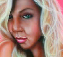 airbrushed potrait   by Airbrushr  Rick Shores