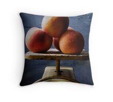 Peaches 1.4 Throw Pillow