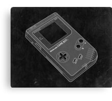 Distressed Nintendo Gameboy in Black and White Canvas Print