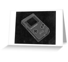 Distressed Nintendo Gameboy in Black and White Greeting Card