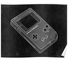 Distressed Nintendo Gameboy in Black and White Poster