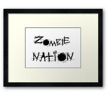 Zombie Nation. Framed Print