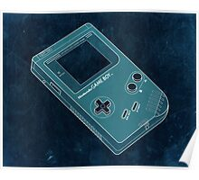 Distressed Gameboy in Cyan Poster