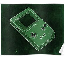 Distressed Gameboy in Green Poster