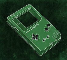 Distressed Gameboy in Green by ChristineWilson