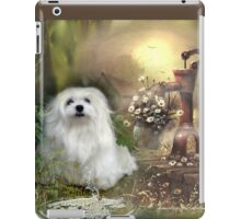 Snowdrop the Maltese at The Wishing Well iPad Case/Skin