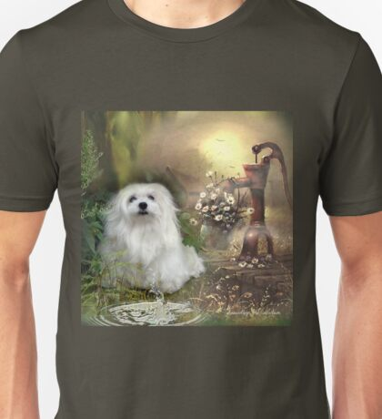 Snowdrop the Maltese at The Wishing Well Unisex T-Shirt