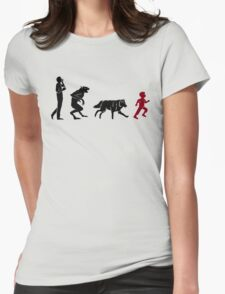 Evolve or Run Womens Fitted T-Shirt
