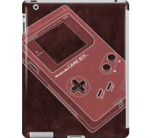 Distressed Gameboy in Red iPad Case/Skin