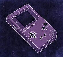 Distressed Gameboy in Purple by ChristineWilson