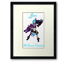 Jinx - The Loose Cannon League Of Legends (Blue Text) Framed Print