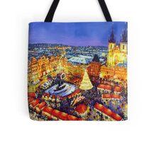 Prague Old Town Square Christmas market 2014 Tote Bag