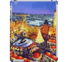 Prague Old Town Square Christmas market 2014 iPad Case/Skin