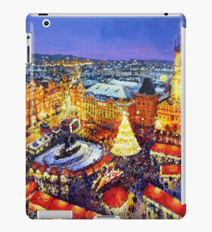 Prague Old Town Square Christmas market 2014 iPad Case/Skin