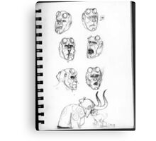 Hellboy Expression Sheet Canvas Print