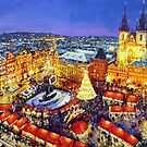 Prague Old Town Square Christmas market 2014 by Yuriy Shevchuk
