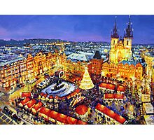 Prague Old Town Square Christmas market 2014 Photographic Print