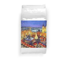 Prague Old Town Square Christmas market 2014 Duvet Cover