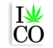 I Heart CO - Legalized Marijuana Logo Canvas Print