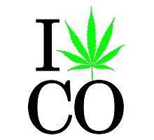 I Heart CO - Legalized Marijuana Logo Photographic Print