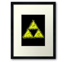 TRIFORCE PIXEL Framed Print