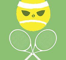 Tennis Skull and Crossbones by kmgee