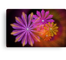 Sunset Foral Canvas Print