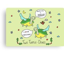 Two Turtle Doves Canvas Print
